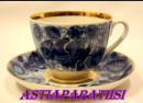 LOMONOSOV,blue bird Vintage USSR Lomonosov Cobalt Lace Patterned Rooster and Flower Design 24k Gold Trim Tea Cup and Saucer,(sininen lintu Vintage USSR Lomonosov koboltti Pitsi kuvioitu Rooster ja kukkakuvio 24k Trim Tea kuppi ja lautanen)14kpl,45€/kpl