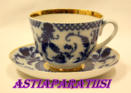 LOMONOSOV, Porcelain Tea Cup Saucer Winter Authentic Russian, 4kpl, 35€/kpl
