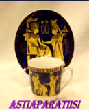 Designer:Fathi Mahmoud Limoges Egypt Cups Mugs Saucers - EGYPTIAN GERMAN PORCELAIN,1setti,45€